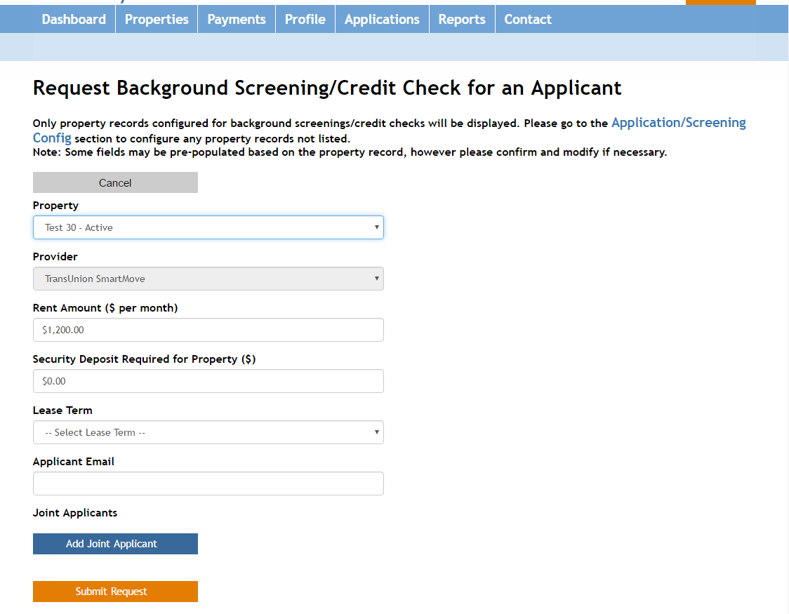 How Do I Request A Tenant Screening/background Check?